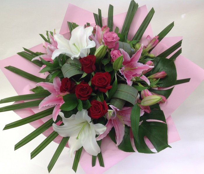 Elegant Roses and Lillies